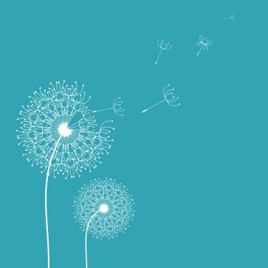 Dandelion in the wind background