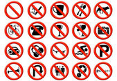 Fotografie Illustration of a signs showing a list of prohibitions