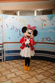 ORLANDO - FEB 3: Minnie Mouse appears for the departing of the
