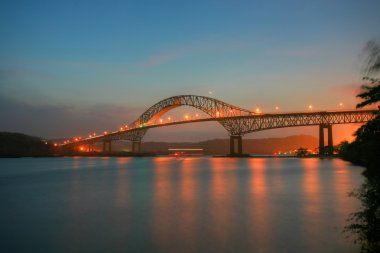 Beautiful bridge connected South and North Americas (Puente de l
