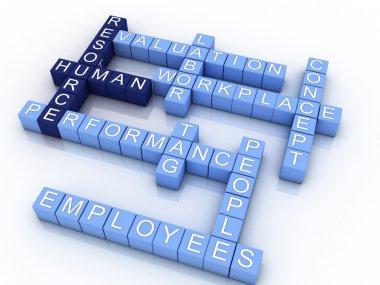 3D concept illustration of human resources management