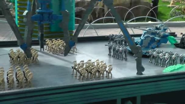 Carlsbad usa, cca 2014: cristophsis starwars navržen s lego na Karlovy Vary, usa na cca 2014. představuje krystalické planetu, kde vojáci republiky klon bitva separatistické armády
