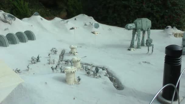 Carlsbad, usa, intorno al 2014: hoth di starwars progettato con lego su carlsbad, usa su intorno al 2014. esso rappresenta la star wars episodio v lImpero colpisce ancora