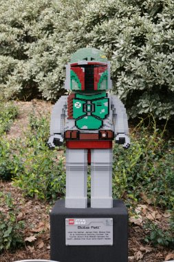 CARLSBAD, US, FEB 6: Star Wars Boba Fett Minifigure made with le
