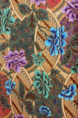 Indonesian fabric design details
