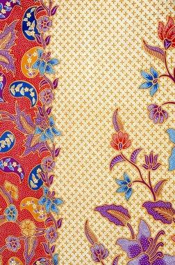 detailed patterns of indonesian batik cloth