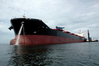 a large coal tanker