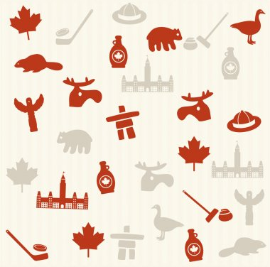 Canadian seamless pattern