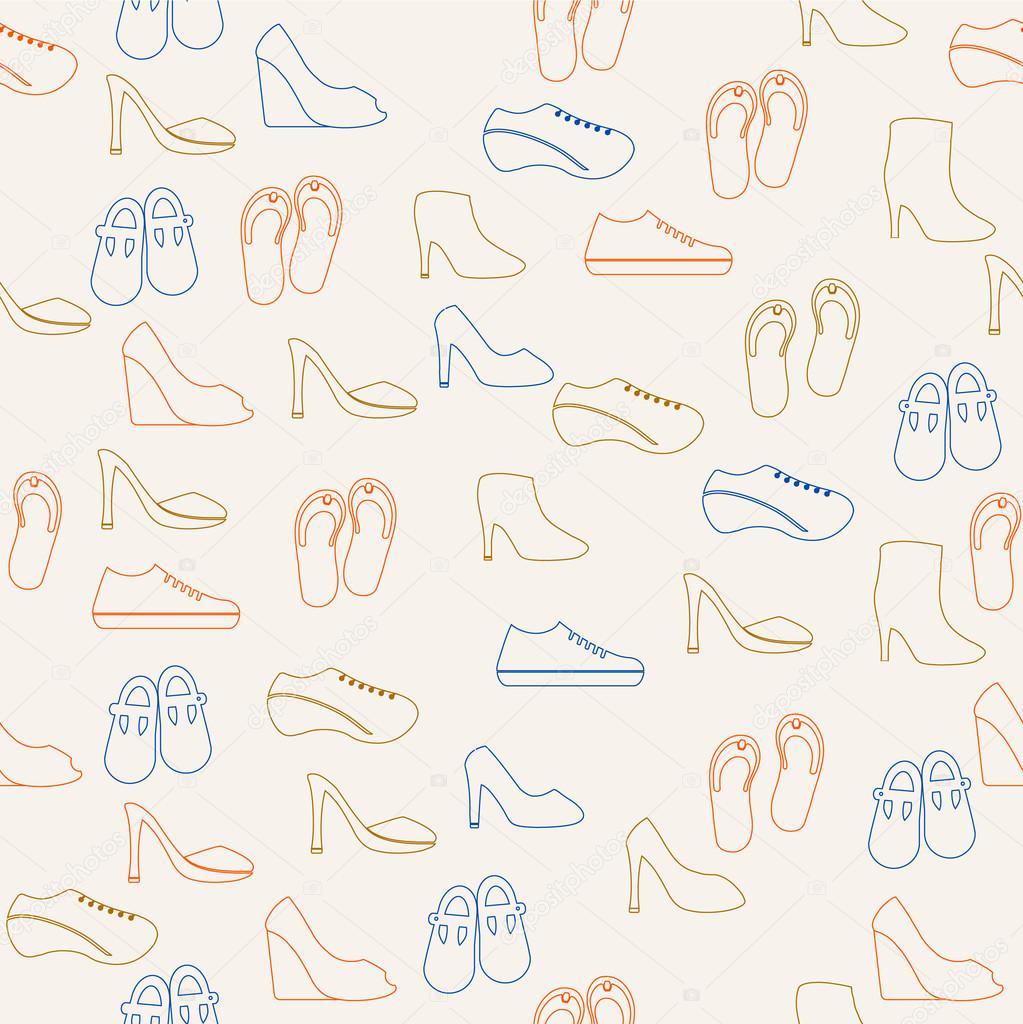 patrón zapatos — Archivo Imágenes Vectoriales © katerinarspb #25758119
