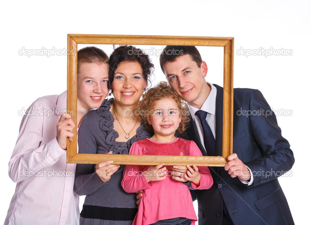 portrait de famille avec cadre photographie mac sim 21348923. Black Bedroom Furniture Sets. Home Design Ideas