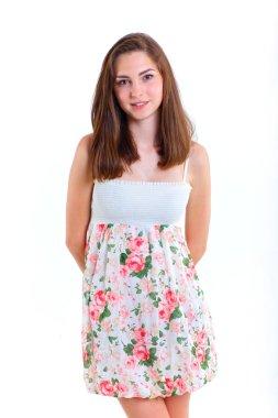 Teenage girl in studio