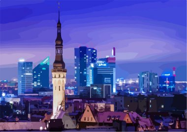 Tallinn at night