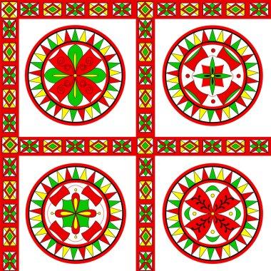 Russian traditional ornament of Severodvinsk region
