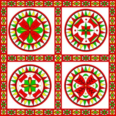 Russian traditional ornament of Severodvinsk region