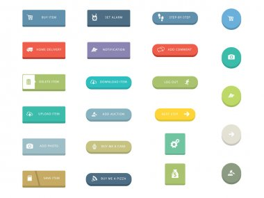 Flat Icons for Web and Mobile Applications stock vector