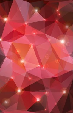 red abstract background with effects