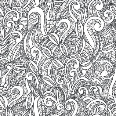 Hand-drawn seamless ornament