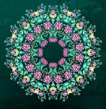 Round Indian pattern, mandala