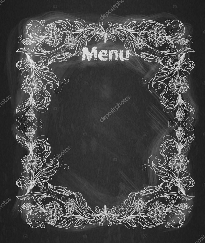 Vintage Frame auf der Tafel dekorativ retro-banner — Stockvektor ...