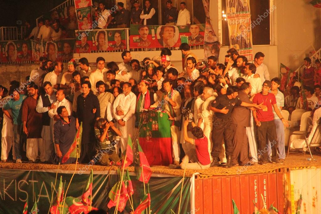 Imran Khan during election campaign