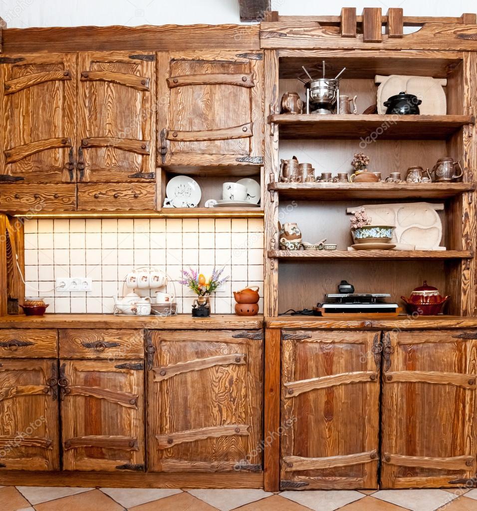 Muebles para cocina en estilo r stico foto de stock - Estilos de muebles de cocina ...