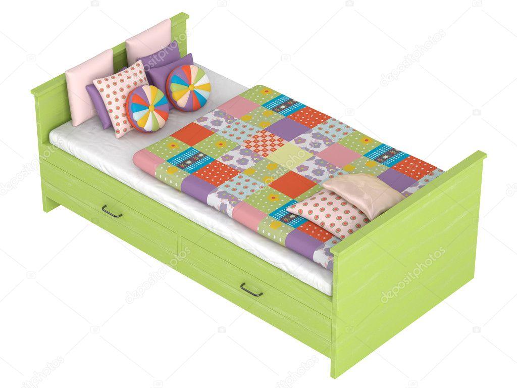 cama con cajones de almacenamiento — Fotos de Stock © Nmorozova ...