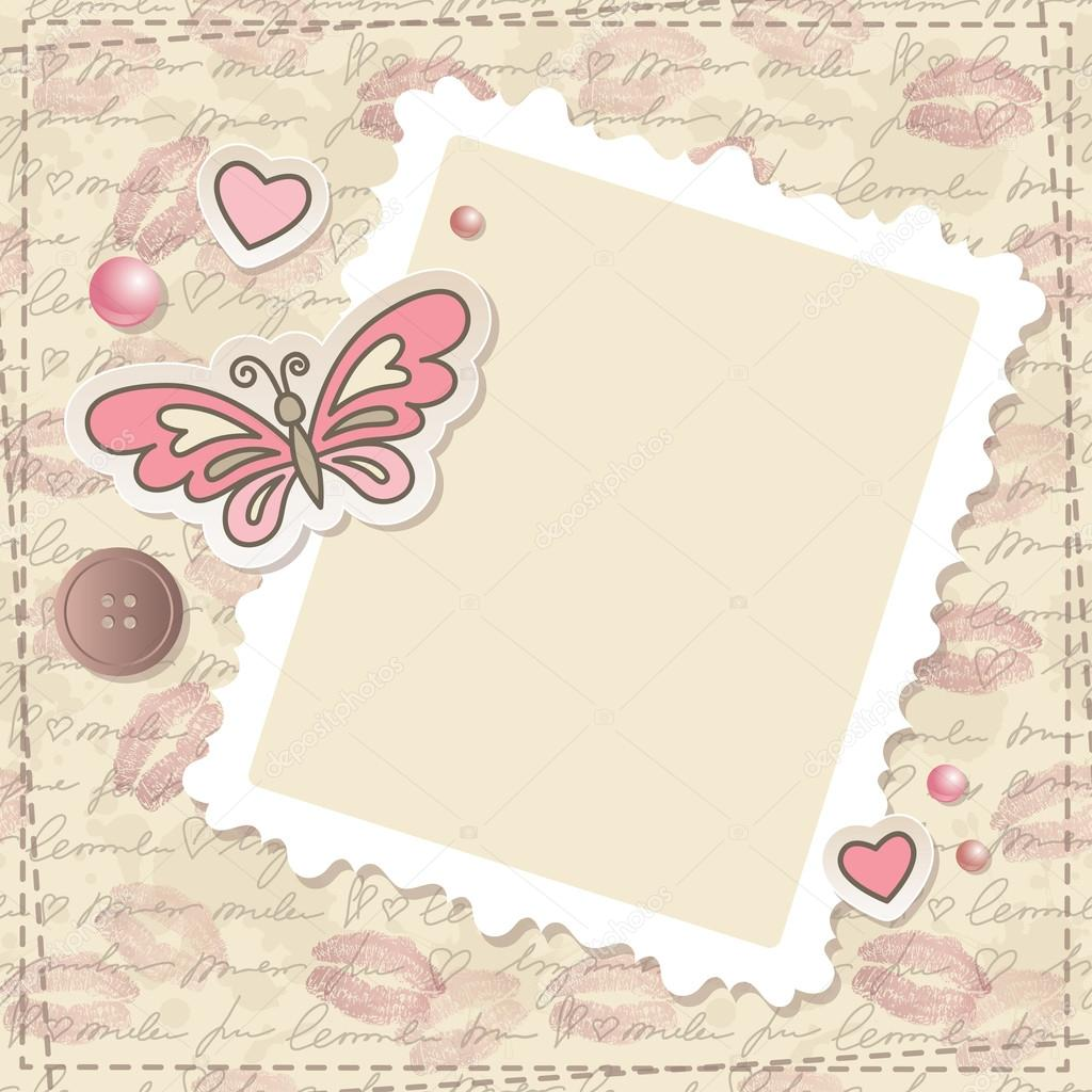 Papel De Carta Decorado Para I Scrapbooking