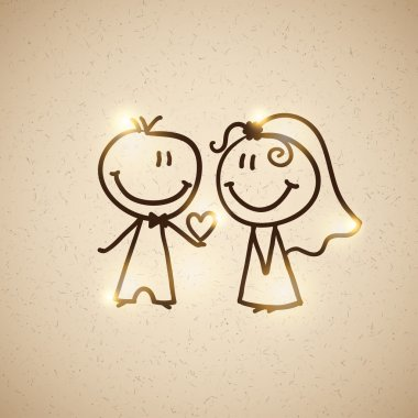 Wedding couple, vector eps 10