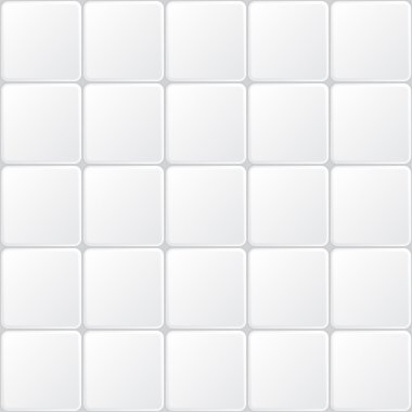 White tile seamless pattern, minimalistic vector background stock vector