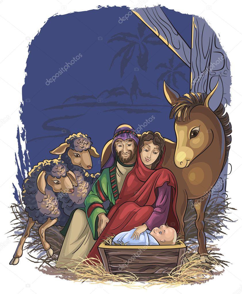 Dibujos De Navidad Del Nacimiento De Jesus.Dibujos Nacimiento De Jesus En Animados Pesebre De