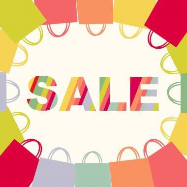 Bright Sale Poster With Bags