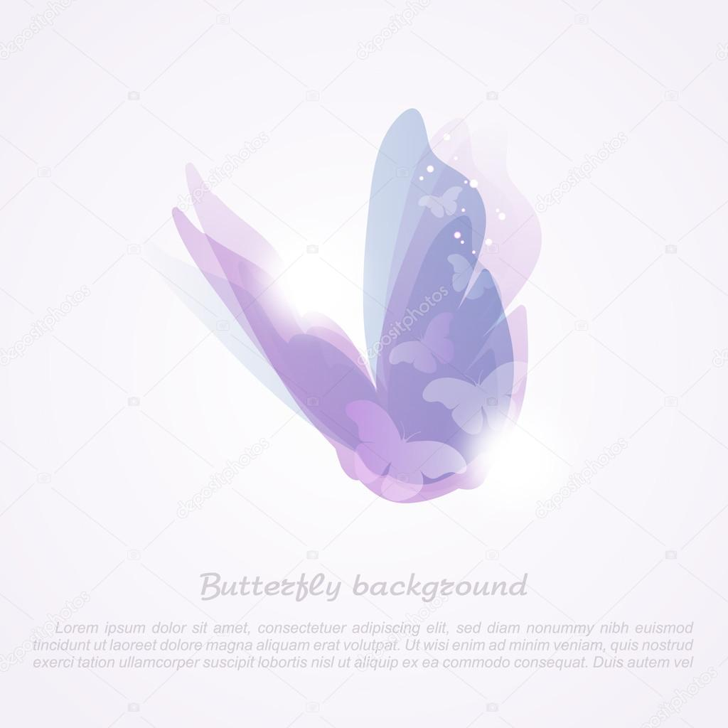 Abstract butterfly. Vector background