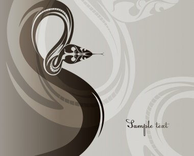 Background with snake. 2013 new year. Vector Illustration.