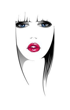 Woman face. Vector illustration