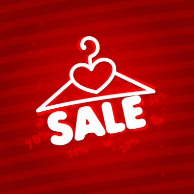 Sale. Design template with a hanger
