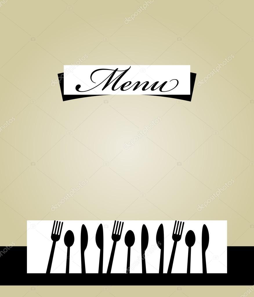 diseño de plantillas de menú de restaurante — Archivo Imágenes ...