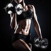 Fotografie Fitness mit Hanteln