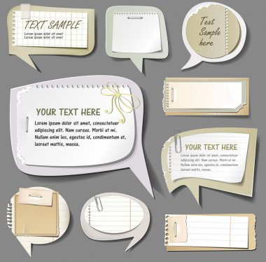 Retro paper bubbles speech