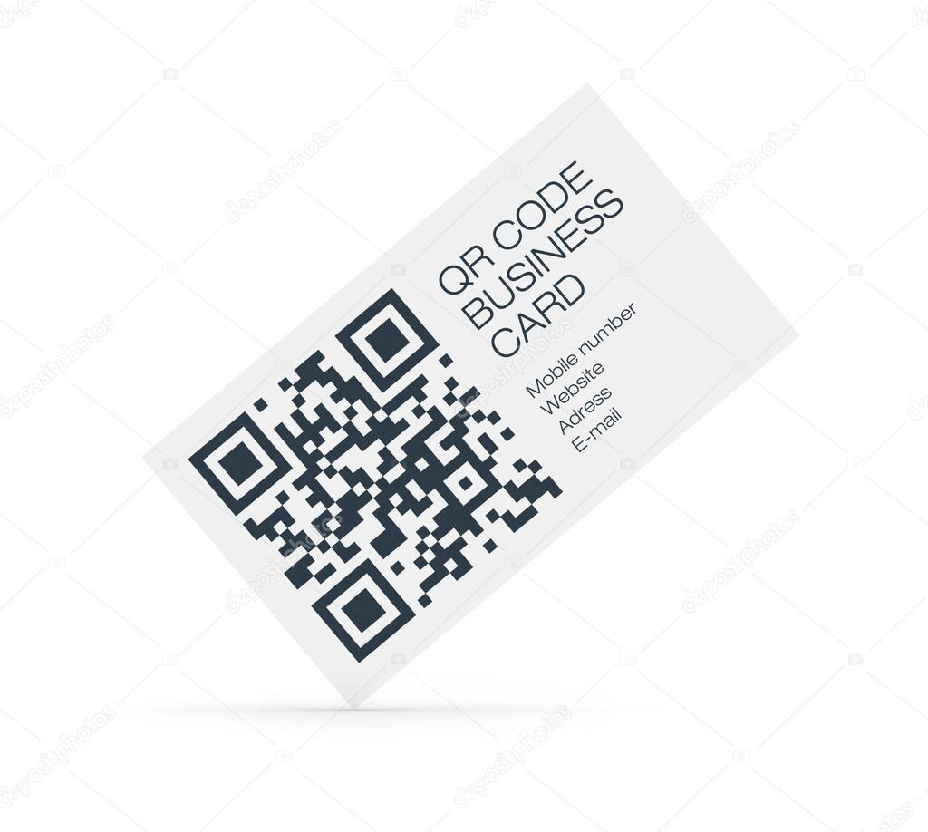 Qr code business card concept stock photo bloomua 15791225 business card with qr code data information isolated on white photo by bloomua colourmoves