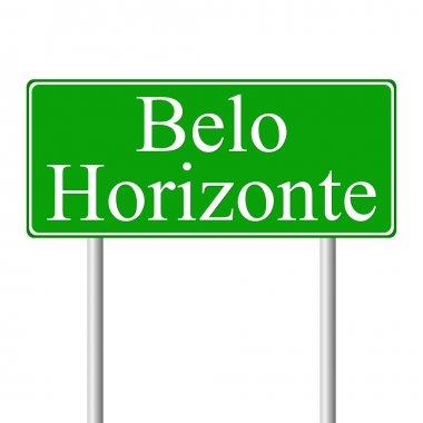 Belo Horizonte green road sign