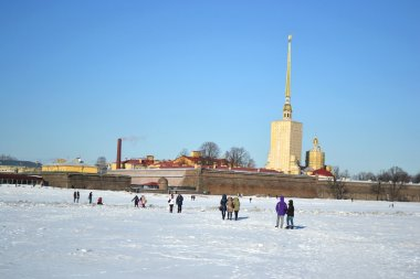 The Peter and Paul fortress at winter