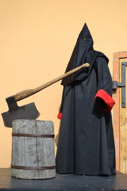 Executioner of the death penalty with a huge ax