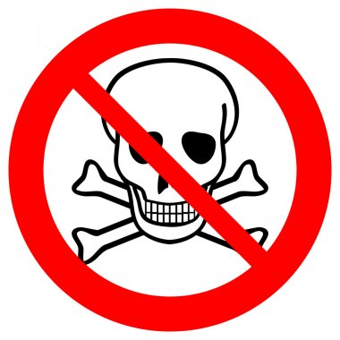 No chemical weapons sign
