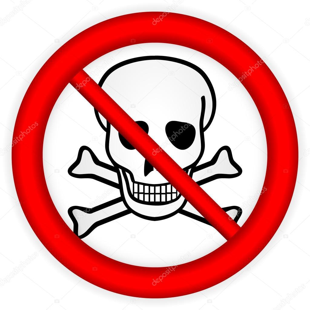 aucun produit chimique d'armes signe — Image vectorielle ...