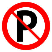 Fotografie No parking sign icon