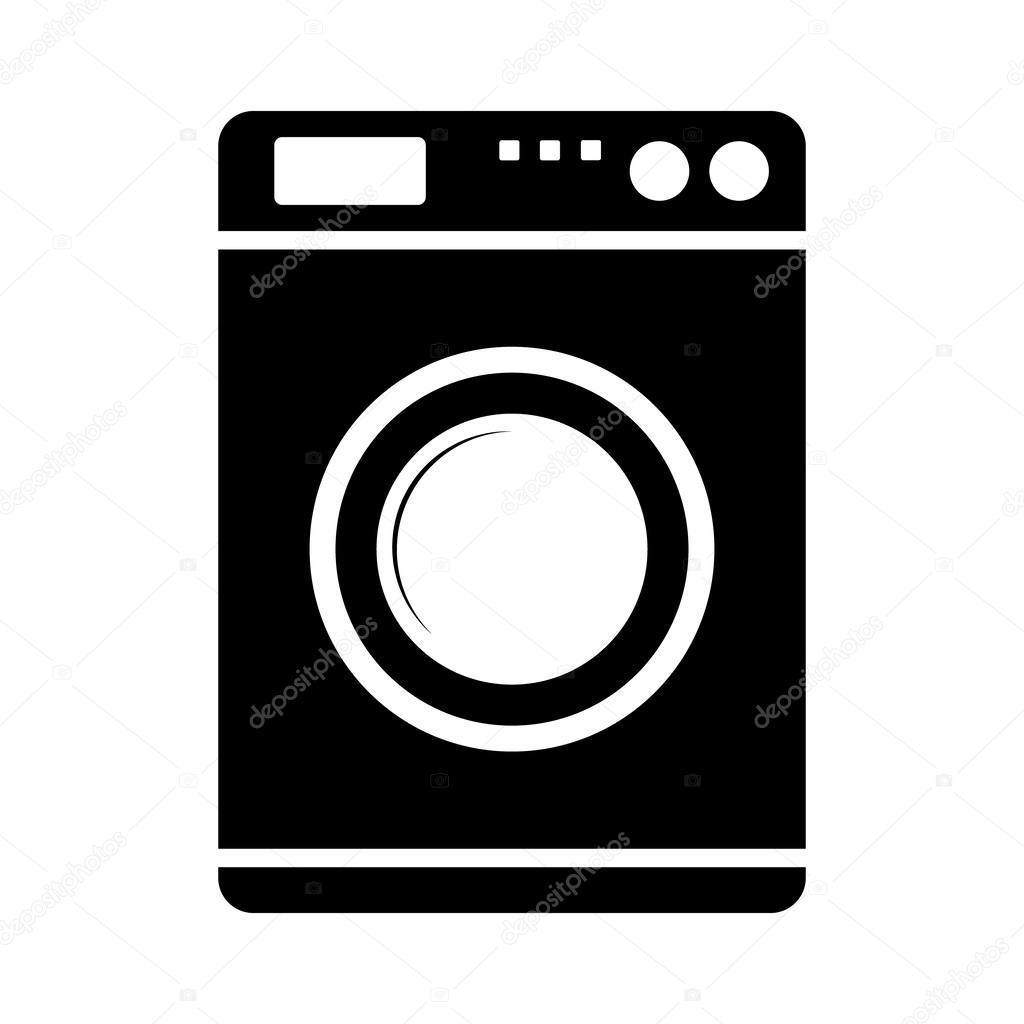 ic ne de la machine laver image vectorielle konstsem 46217317. Black Bedroom Furniture Sets. Home Design Ideas