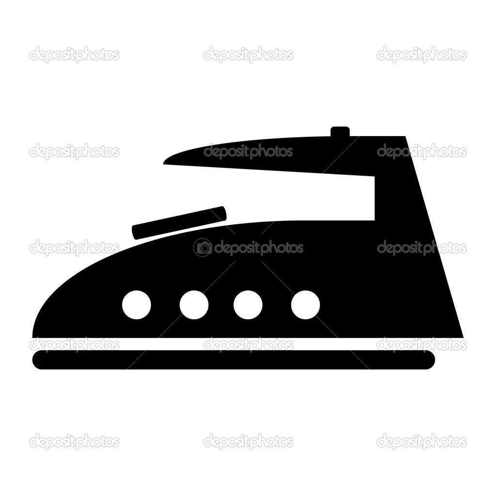 Steam Iron Icon ~ Icono de plancha vapor — vector stock konstsem