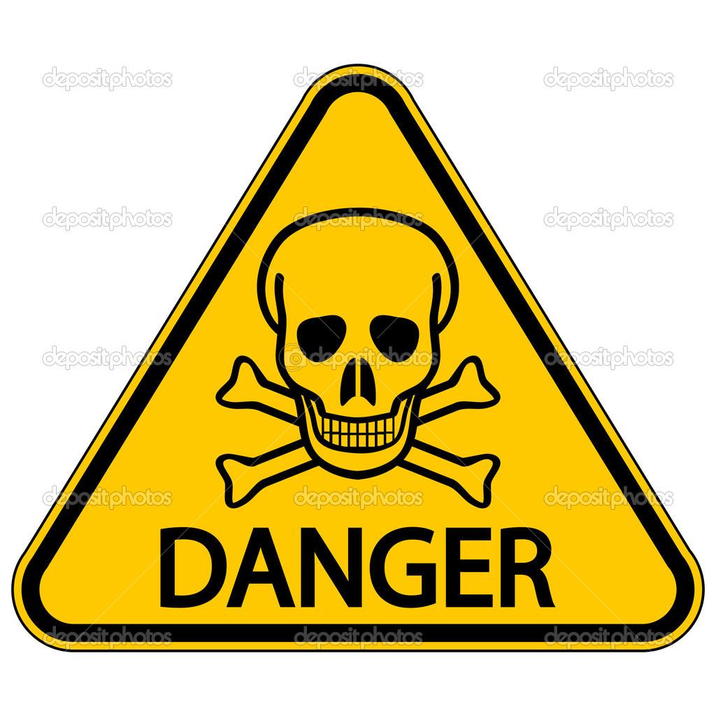 calavera y huesos se241al triangular de peligro � archivo