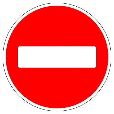 No entry road sign