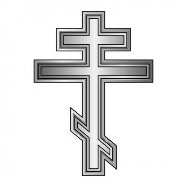 Religious orthodox cross icon